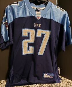 the best attitude 61a0b 0b6fc Details about Tennessee Titans #27 Eddie George Jersey Youth Large Reebok  Blue NFL