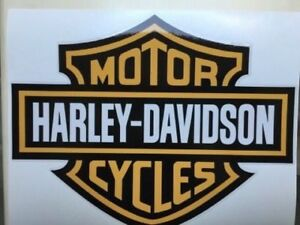 HARLEY-DAVIDSON-MOTORCYCLE-DECAL-STICKER-LABEL-LARGE-240mm-DIA-sdfsd