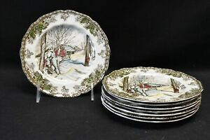 Johnson Brothers Friendly Village Set of 8 Bread & Butter Plates (Sugar Maples)