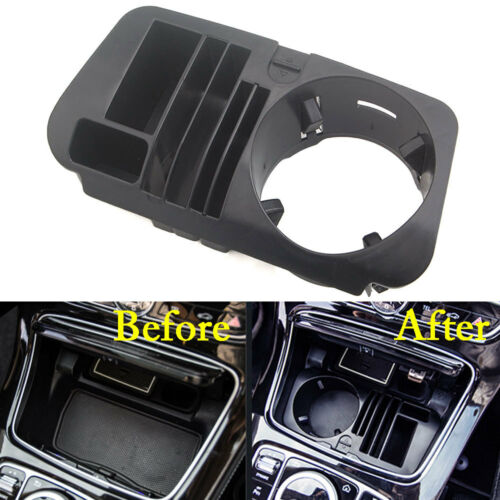 Car Water Cup Holder Storage Box Cover For Mercedes Benz C Classe W205 GLC W213