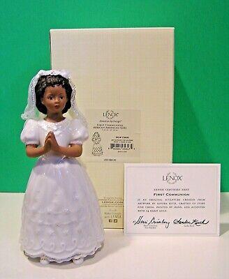 LENOX FIRST COMMUNION BLONDE GIRL Figurine NEW in BOX with COA Sandra Kuck