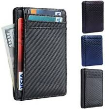 9e57938b Coach Peacock Navy Leather ID Card Case and Money Clip Wallet 75200 ...