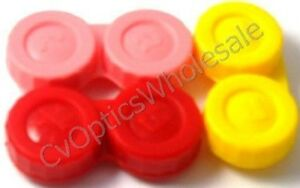 3x-Contact-Lens-Soaking-Storage-Case-Red-Pink-Yellow