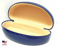 New Hard Clam Shell Glasses Case Durable Box Sunglasses Protector Blue