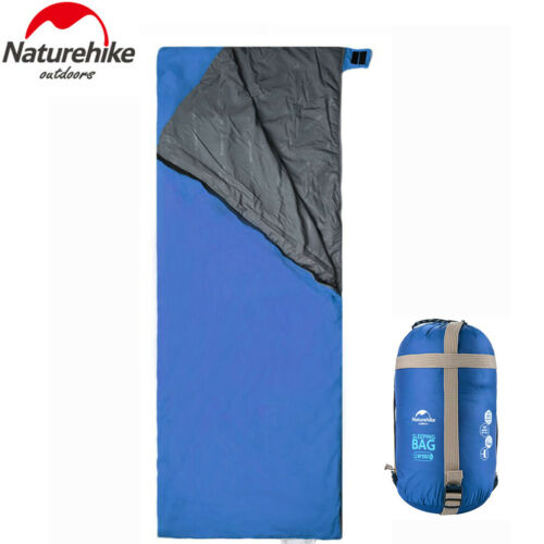 3 Season Waterproof Single Camping Hiking Travel Envelope Sleeping Bag Adult UK