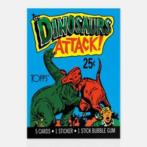 DINOSAURS-ATTACK-1988-TOPPS-80TH-ANNIVERSARY-WRAPPER-ART-CARD-24-Topps-Art