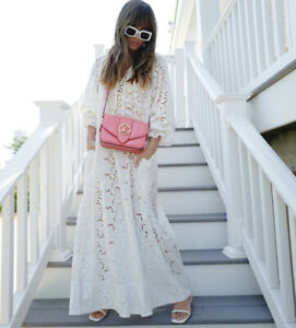 H-amp-M-Conscious-White-Broderie-Anglaise-Maxi-Kaftan-Dress-Size-S-Bloggers-Fave