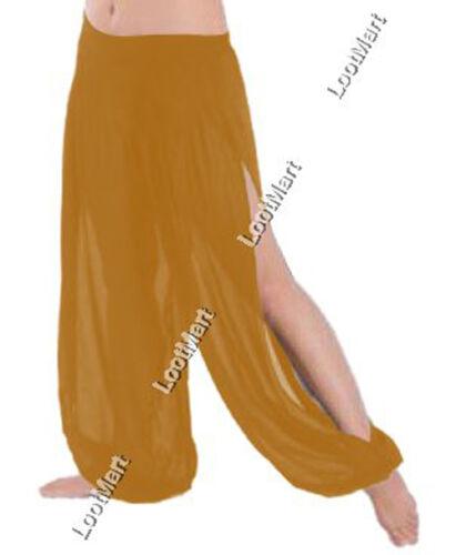 Belly Dance Orange 1 Slit Harem Yoga Pants Tribal Trousers Pantalons Genie 25Col