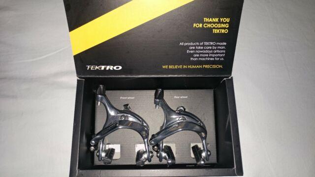 Tektro R559 Long Reach Bike Brake Caliper 55-73mm Nutted Silver Front//Rear// Set