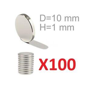 100 Aimants Néodyme 10x1 Mm Très Forte Pour Fimo Céramique Faveurs De Mariage