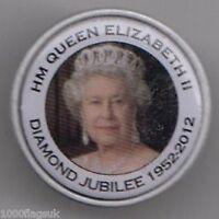 HM QUEEN ELIZABETH II DIAMOND JUBILEE PIN BADGE
