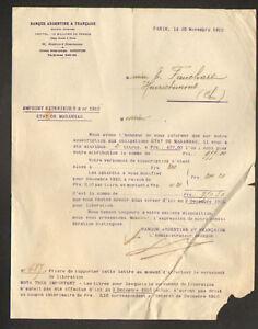 PARIS-VIII-BANQUE-034-ARGENTINE-amp-FRANCAISE-034-Emprunt-ETAT-de-MARANHOA-en-1910