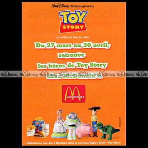 McDONALD-039-S-amp-Figurines-TOY-STORY-Disney-1996-Pub-Publicite-Ad-A55