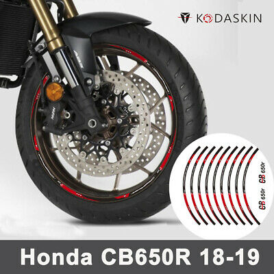 KETABAO 17 inch Rim Stickers Wheel Decals For Honda CBR1000RR CBR600RR CBR650F CB500R CB1000R CB600F CB500X White