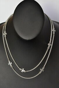 Konstantino-8-Station-Cross-Necklace-36-034-Long-Sterling-Silver-Classic-New