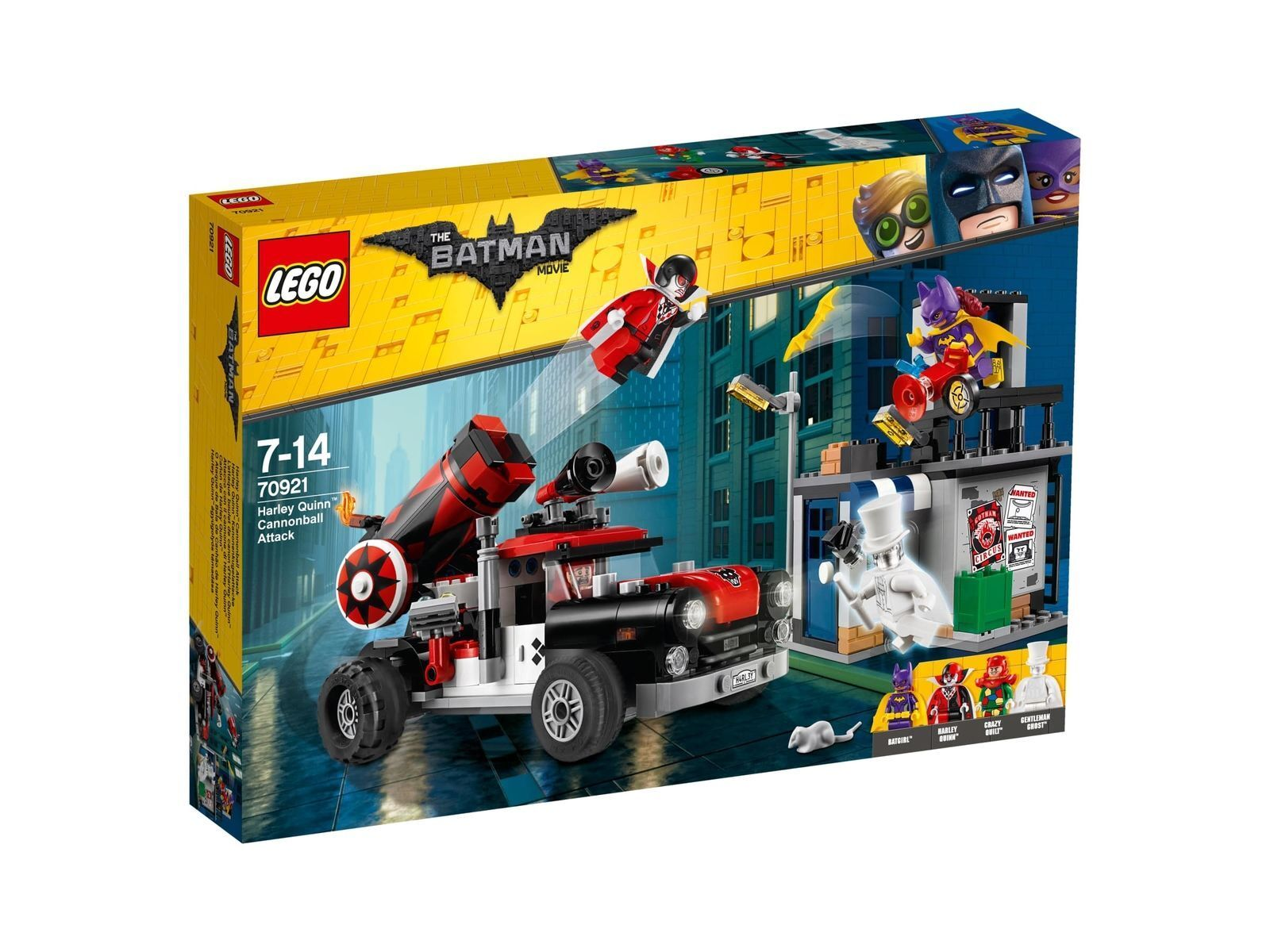 LEGO 70921-HARLEY QUINN palla di cannone attacco-the Batman movie 4 personaggio Set Nuovo