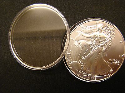 ~30 Direct Fit 40.6 mm Coin Capsule For American Silver Eagle 1 oz Dollar H40.6