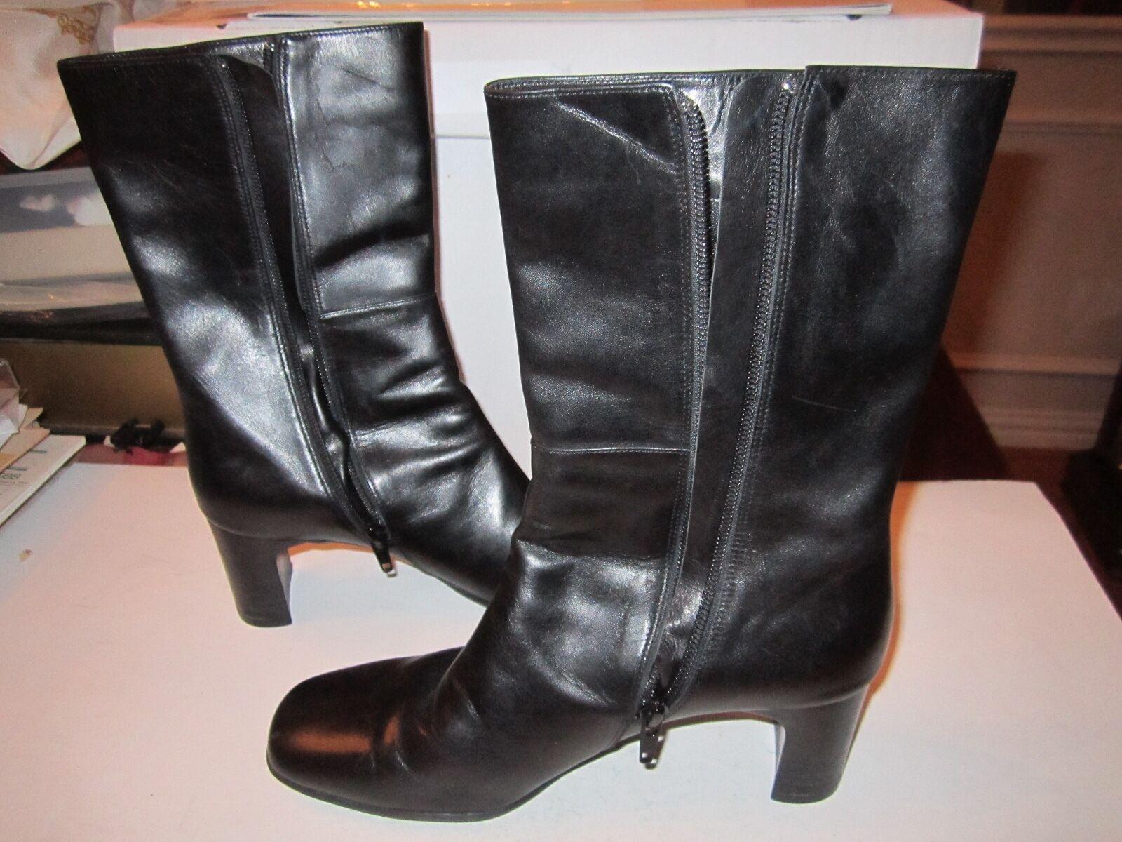 2 PAIRS OF VANELI Schuhe - BLACK BOOTS SIZE 6 1/2 & UNUSED SLINGBACKS SIZE 7 1/2