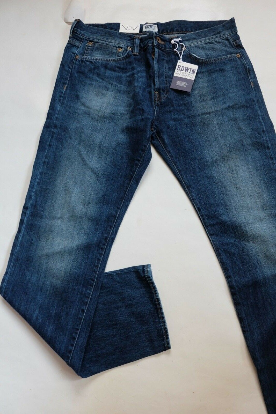JEANS EDWIN MAN ED 80 SLIM TAPERED (white listed- bluee G14) W36 L32 VAL