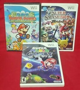 Mario-Galaxy-Paper-Mario-Super-Smash-Bros-Brawl-Nintendo-Wii-Wii-U-Game-Lot