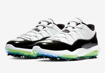 premium selection 913c9 34d3c New Nike Air Jordan XI 11 Concord Golf Shoes Space Jam Size US 8.5 BLACK  WHITE | eBay