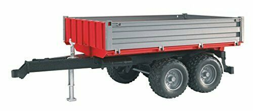 Bruder 02019 Tipping Trailer Accessory with Hitch for Farm Tractors Construct...