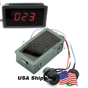 DC 6-30V 12V 24V 8A PWM Motor Speed Controller With Digital Display with Switch