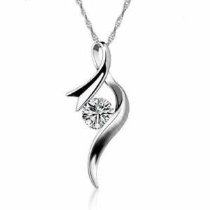 Silberkette-mit-Anhaenger-925-Sterling-Silber-Schmuck-Halskette-Kette-Damen-Neu
