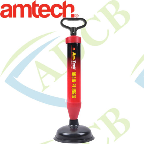 Amtech Drain Sink Plunger Hand Suction Clears Block Drains Sinks S1502