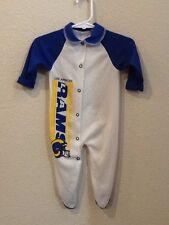 Vintage Los Angeles Rams Long Sleeve Baby Sleeper Size 14 1/2-18lbs 3-6 Months