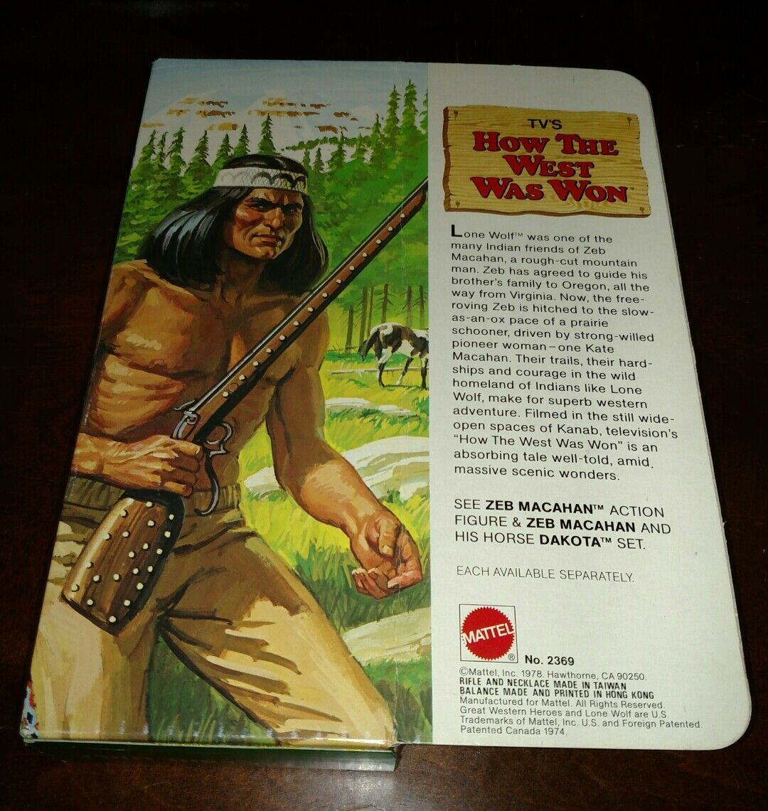THE LONE WOLF HOW THE WEST VINTAGE WAS WON MATTEL VINTAGE WEST 1978 BRAND NEW IN THE BOX 7fc37d