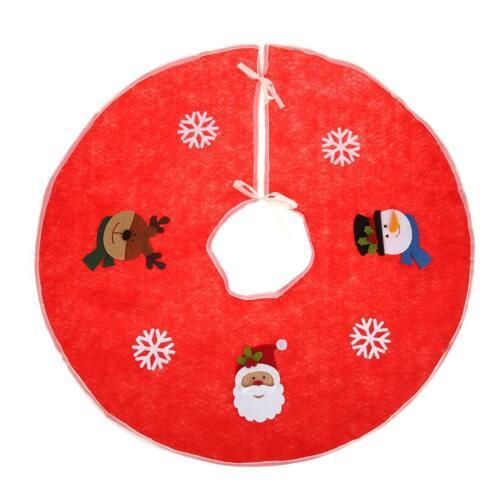 Christmas Tree Skirt Skirts Decorations Plush Xmas Base Floor Mat Party Decor