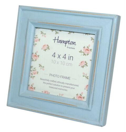 Blue /& Grey All Sizes Shabby Chic Distressed Photo Frames White