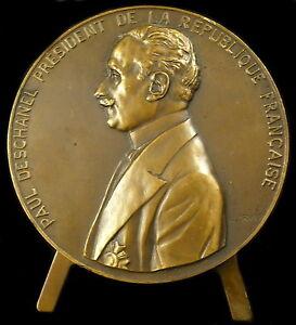 Medaille-President-de-la-Republique-Paul-Deschanel-c1920-sc-Drivier-Medal