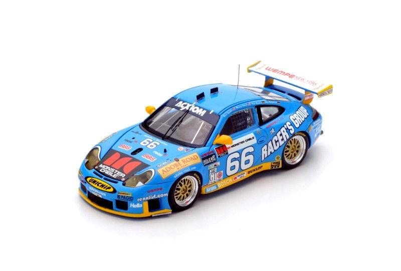 43DA03 Spark:1/43 Porsche 911 GT3RS  66 Winner 24HRS. Daytona 2003 J.Bergmeister