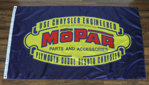 Mopar Banner Flag Racing Retro Vintage Logo Dodge Motorsports Auto Car Parts New