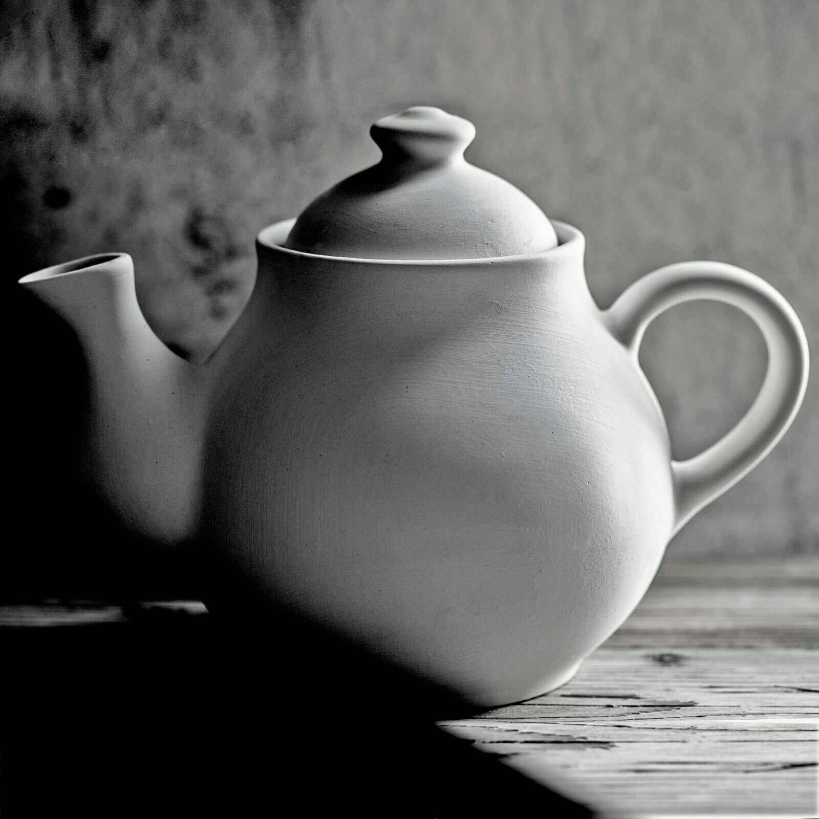 Handmade Teal Blue and WhitePolka Dot Extra Large 60oz//1,7l Ceramic Teapot