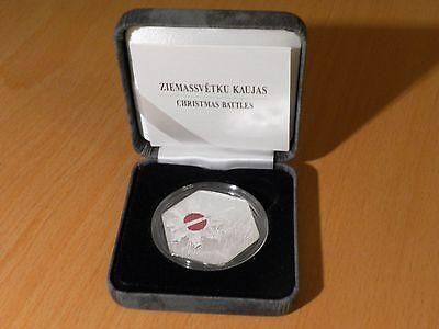 Latvia 2016 silver coin 5 euro CHRISTMAS BATTLES 1917 year Latvian history