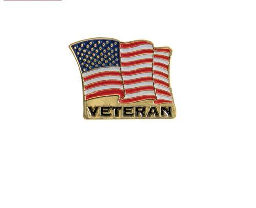 US Flag Military Veteran Hat Lapel Pin Rothco 1950