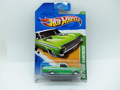 Bello Hotwheels Cacce Al Tesoro 65 Ford Ranchero-nuovo In Pacchetto-long Card 2011-mostra Il Titolo Originale
