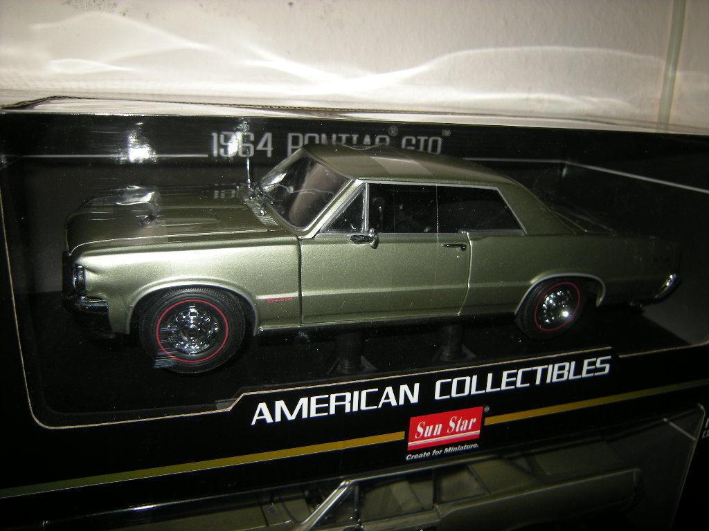 1 18 SUN STAR PONTIAC GTO 1964 Pinehurst vert VERT Nº 1827 in neuf dans sa boîte