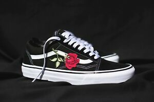 Details about Vans OLD SKOOL CUSTOM BIG 'Rose' Patch [EUR 37-48] Unisex Roses Flowers Sneaker- show original title