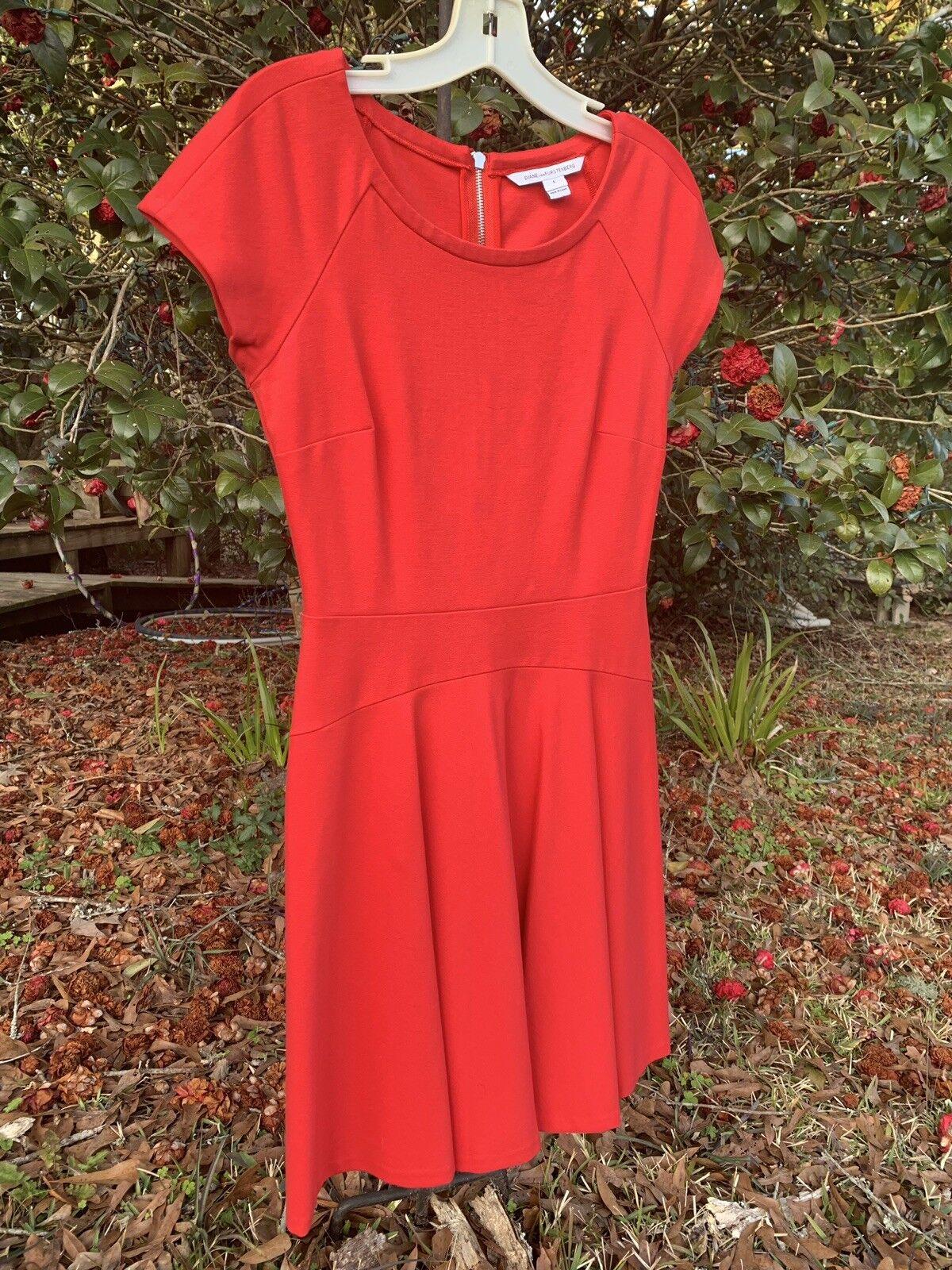 Diane von furstenberg rot DELYSE dress Größe 6