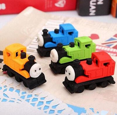 CB194 Cartoon Locomotive Rubber Eraser Cute Stationary Rubber Random Color 1pc