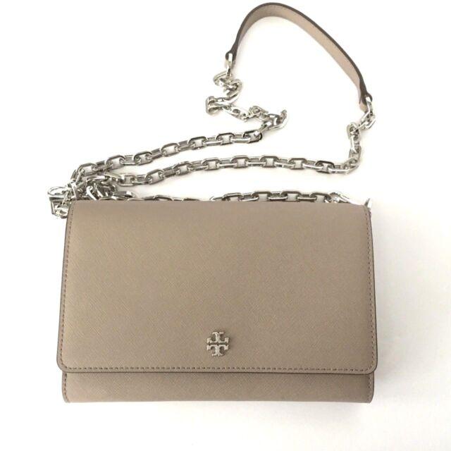 aec4a7ba0cd2  298Tory Burch Robinson Chain wallet Crossbody Bag FrenchGray 11169106 0616  NWT