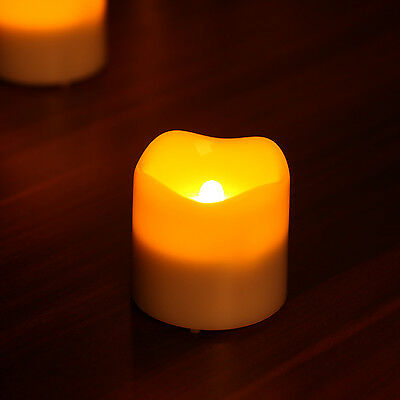 Flickering Flame Votive LED Tealight Candle With Timer Wedding Party Decoration