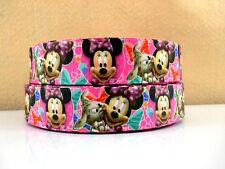 1 Metro Nuevo Rosa Minnie Mouse y cinta de perro de tamaño 1 pulgadas Diadema arcos Pastel