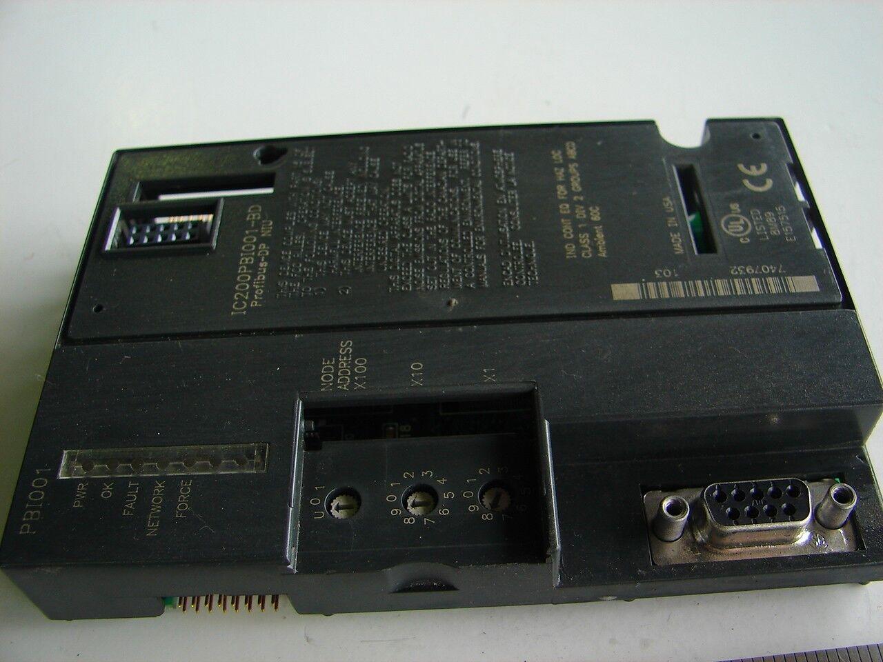 GE FANUC IC200PBI001-BD PLC VERSAMAX PORFIBUS  XLNT