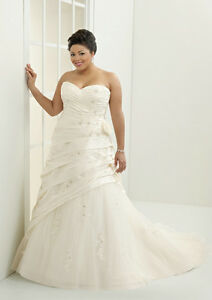 Image Is Loading Plus Size Sweetheart Long Train Wedding Dress Bridal