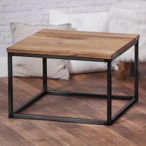Bestloft Couchtisch Wohnzimmertisch Tisch Eiche Massiv Metallgestell